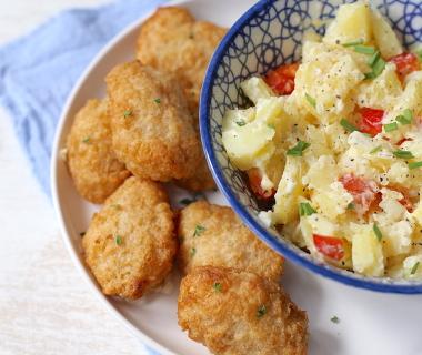 Kibbeling met aardappelsalade