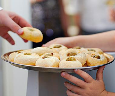 Focaccia-broodjes met olijven