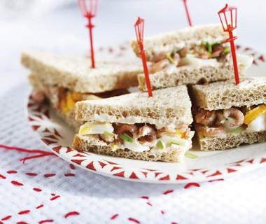 Sandwich met Hollandse garnalen