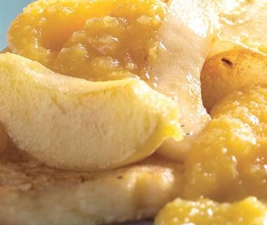 Wentelteefjes met appel en peer