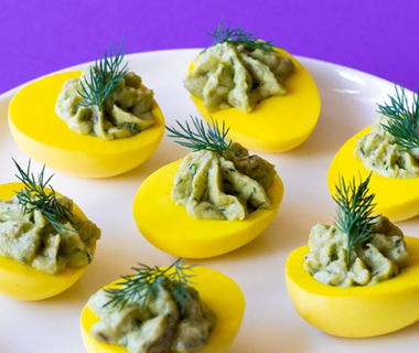Gevulde eieren met avocado en dille van Annie Pannie