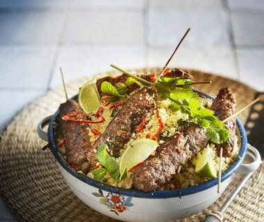 Kebab met couscous