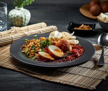 Balinese eieren met nasi
