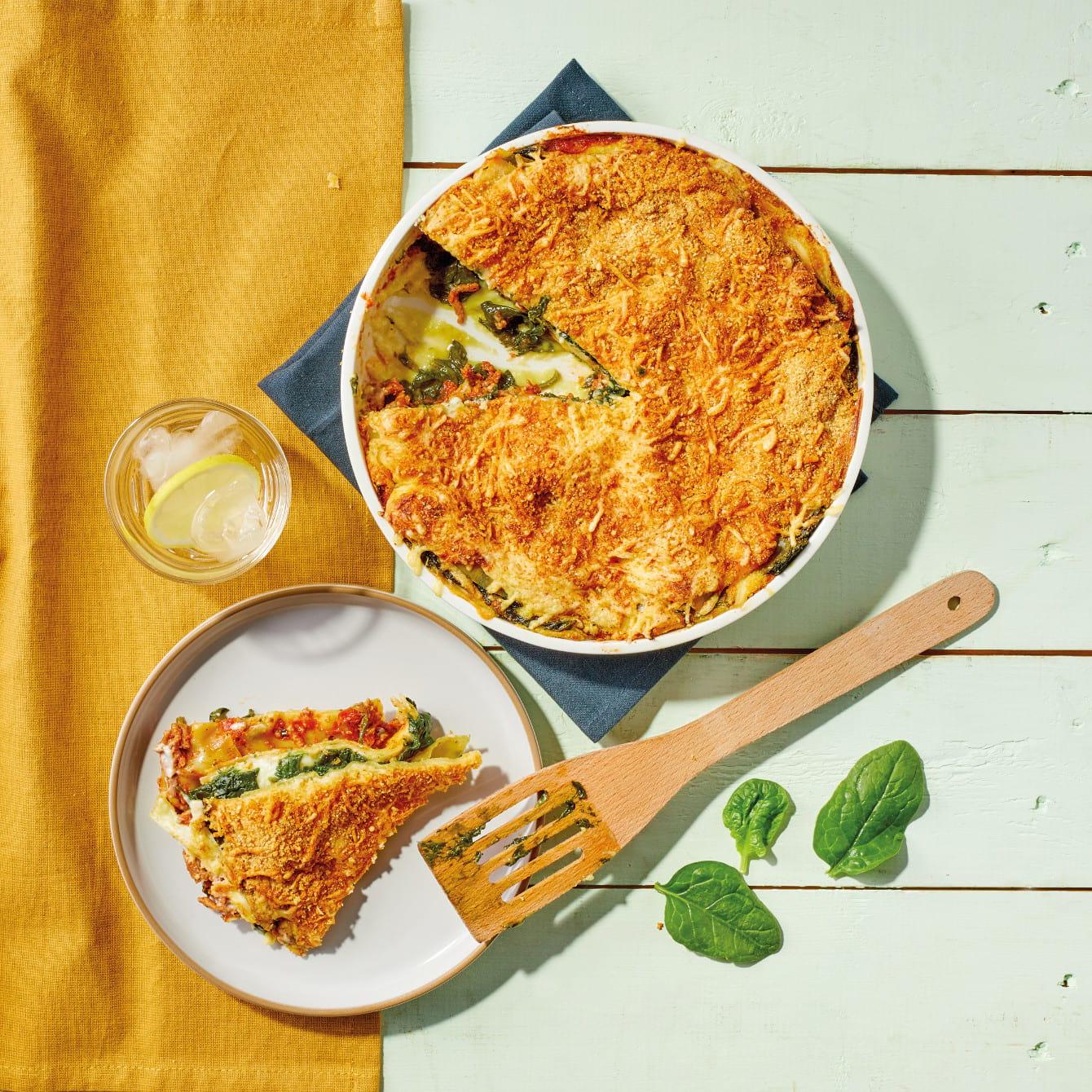 Klassieke lasagne met spinazie
