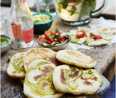 Paprika-flatbread