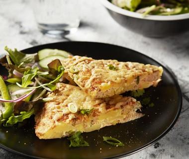 Aardappelomelet met tonijn