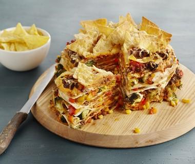 Tortillataart met nachochips