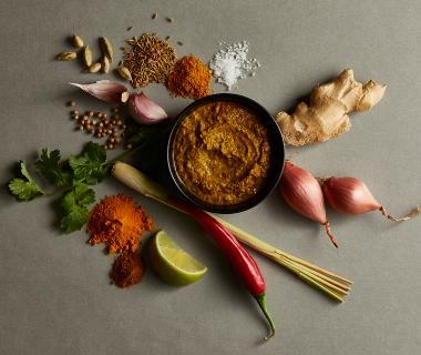 Gele Thaise currypasta