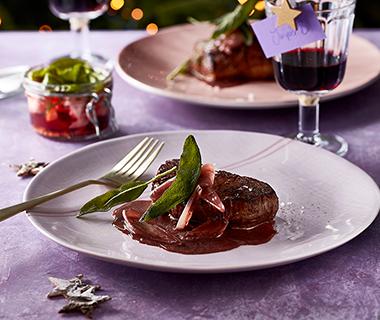 Biefstuk met sjalotten-wijnsaus