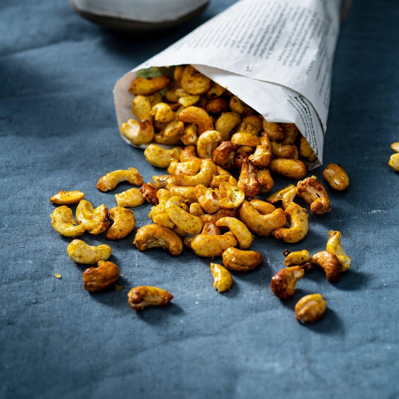 Gekruide cashewnoten
