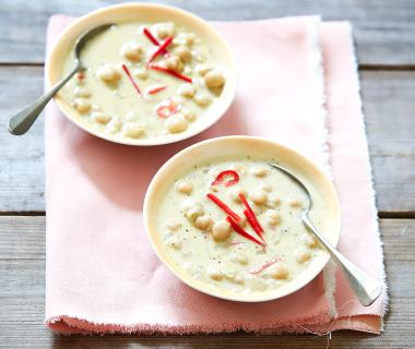 Pittige soep met kokos