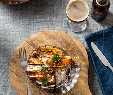 Crispy kip en witlof schotel