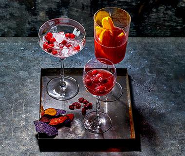 Virgin cranberry-sangria