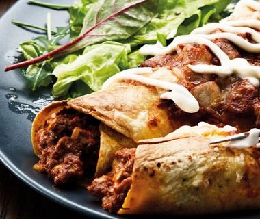 Enchilada's uit de oven