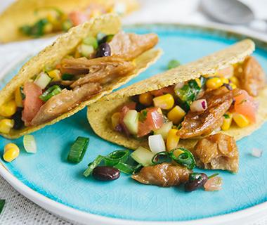 Mexicaanse taco's met Kipstuckjes (vegan)