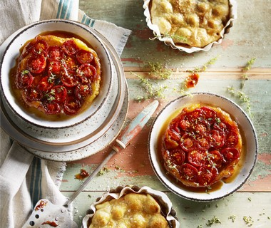 Tarte Tatin van tomaatjes met balsamico