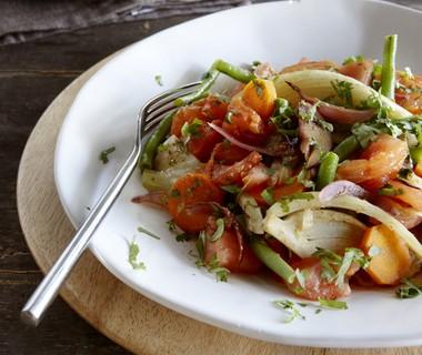 Gekruide groentestoof met amandelrijst
