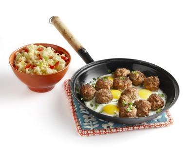 Mediterrane gehaktschotel met ei en couscous