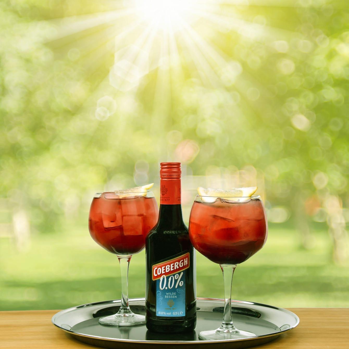 Mocktail cherry soda