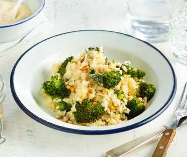Romige broccoli-kaas risotto