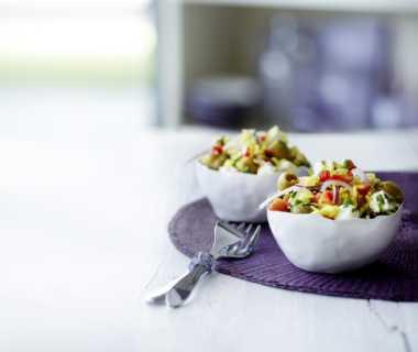 Rijstsalade met feta  en koriander