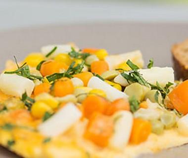 Vegetarische groenteomelet van Ralph Drost