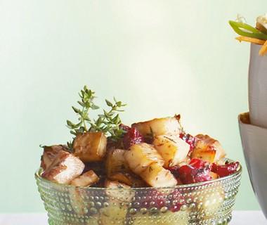 Roergebakken knolselderij met cranberry''s