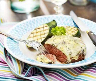 Biefstuk met blauwe kaas