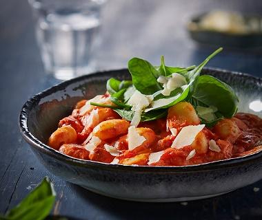 Gnocchi in romige tomatensaus