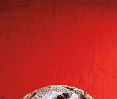 Chocoladetaart met cranberry's