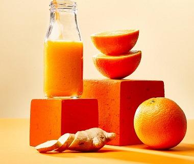 Oranje energy-smoothie
