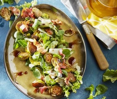 Salade met spruitjes uit de oven
