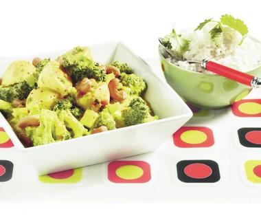Curry van ei en broccoli met rijst