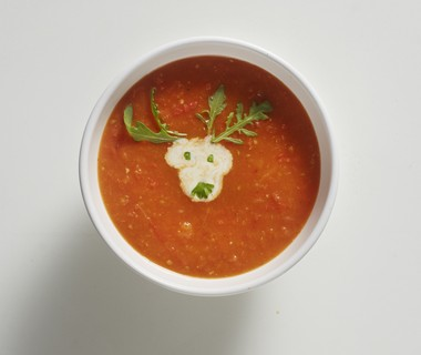 Geroosterde paprika-tomatensoep