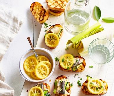 Bruschetta al limone