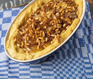 Aardappel-uientaart