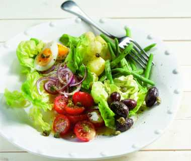 Franse salade met boontjes