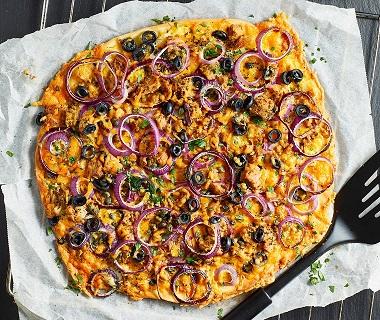 Pizza white tuna melt