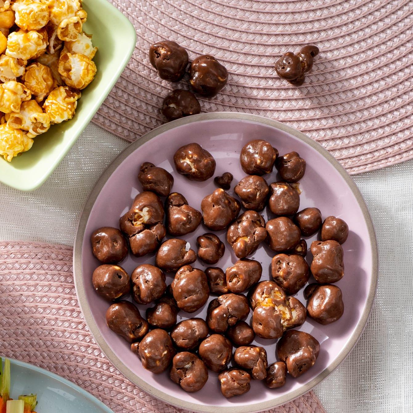 Popcorn met karamel en chocolade van Chantal Janzen