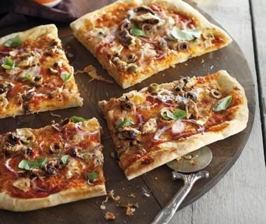Pizza met sardine en ansjovis