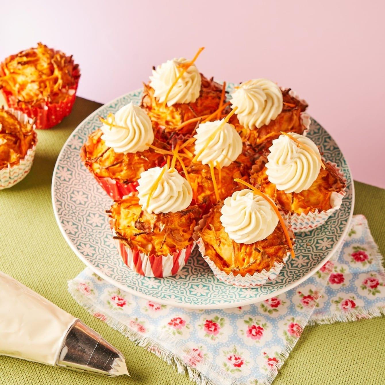 Groenten cupcakes