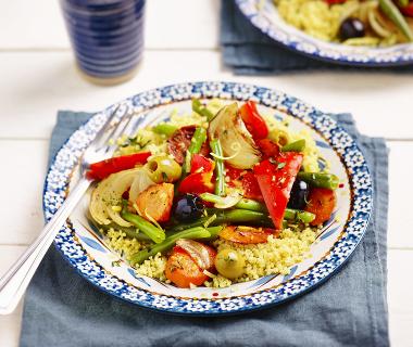 Groentetajine met couscous