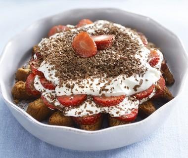 Kwarktiramisu met aardbeien