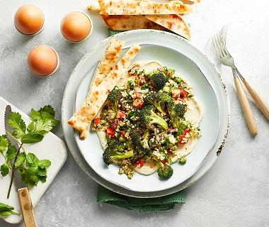 Geroosterde broccoli met tabouleh