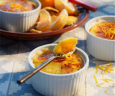 Flan de mandarina y limon