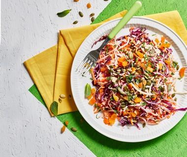 Regenboog-coleslaw