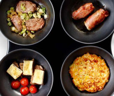 Maïskoekjes met prei en kaas