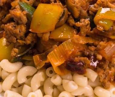Goed gevulde macaroni