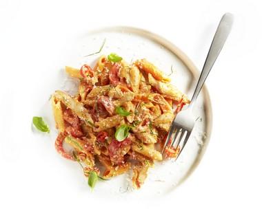 'One pot pasta' met kip