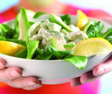 Avocado-tonijnsalade